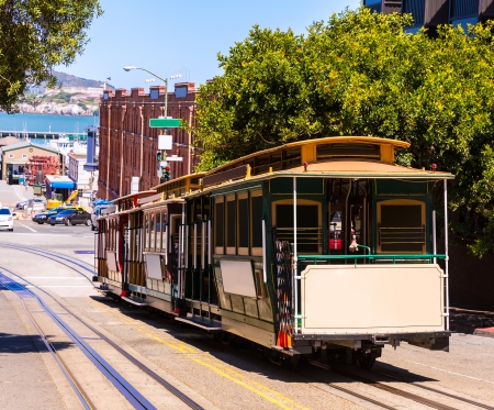 San francisco Hyde Street Cable Car Tram of the Powell-Hyde in California USA photo