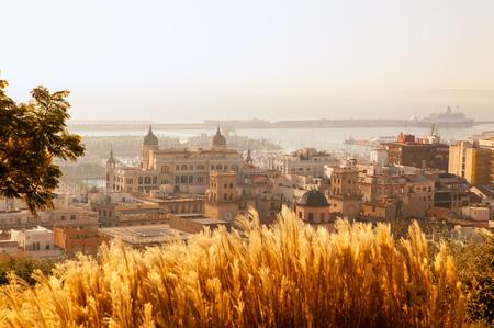 vac: Alicante cityscape skyline in mediterranean sea Valencian Community of spain