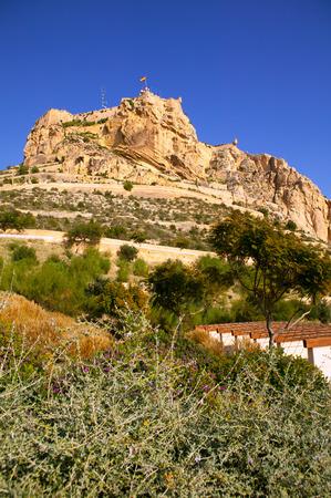 santa barbara: Alicante Santa Barbara Castle in Spain high up the mountain near Mediterranean sea Editorial