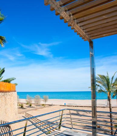 vac: Benicasim in Castellon Benicassim beach with Mediterranean sea of spain