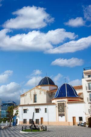 mediterraneo: Benidorm San jaime church Alicante in balcon mediterraneo Spain Stock Photo