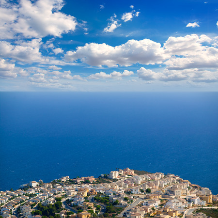 costa blanca: Benitachell in alicante white coast with blue Mediterranean view Stock Photo