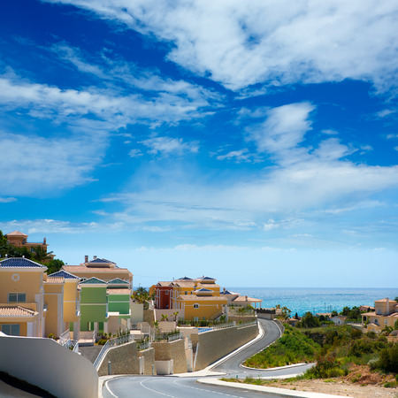 alicante: Calpe in Alicante Spain at Valencian Community at Mediterranean sea shore Stock Photo