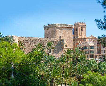 alicante: Elche Elx Alicante el Palmeral Palm trees park and Altamira Palace
