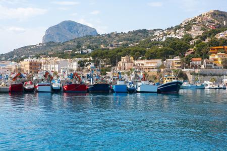 mongo: Javea Xabia port marina with Mongo mountain in Alicante Spain