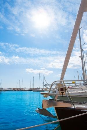 nautic: Moraira Alicante marina in Mediterranean sea of spain