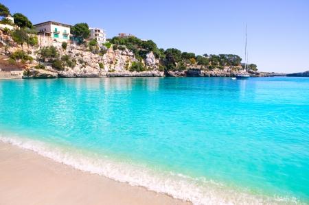 La plage de Porto Cristo dans les îles Baléares Majorque Manacor Banque d'images