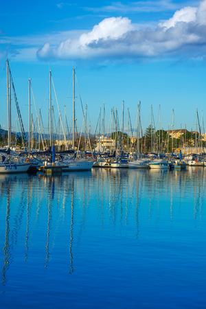 nautic: Alicante Denia Nautic marina in blue Mediterranean of Spain