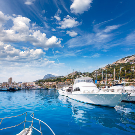 mongo: Javea Xabia port marina with Mongo mountain in Alicante Spain