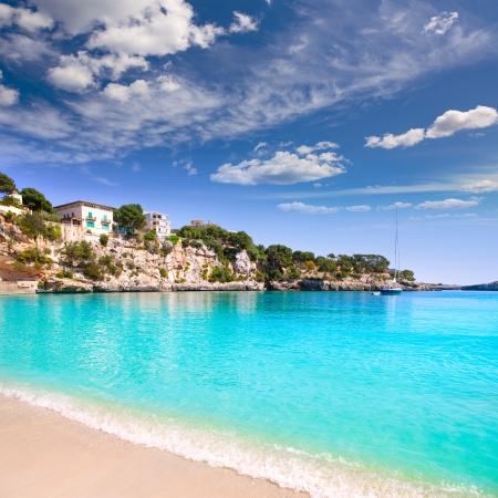 paisaje mediterraneo: Playa de Porto Cristo, en las islas Baleares Mallorca Manacor Mallorca Foto de archivo