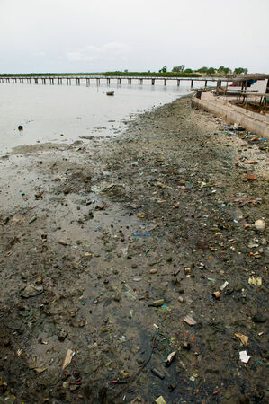 Africa Senegal river pollution soil in Joal Fadiouth photo