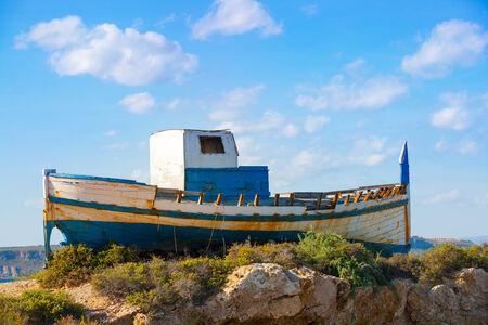 beached: Tabarca island in Alicante Valencian Community of Spain