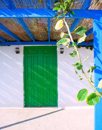 costa blanca: Tabarca Island streets in Alicante Valencian community Spain