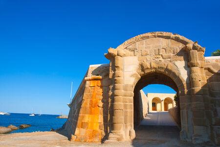 tierra: Tabarca Puerta de San Miguel de Tierra fort door arc in Alicante Spain