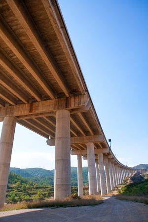 bridgework: viaducto de Bunol in Autovia A-3 road Valencia Spain