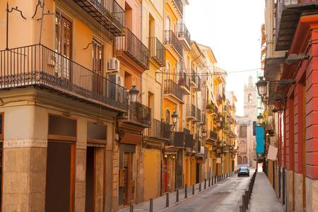 carmen: Valencia Bolseria Street in Barrio del Carmen downtown Spain