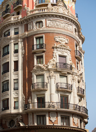 sorolla: Valencia Pintor Sorolla and Juan de Austria streets meeting building in Spain