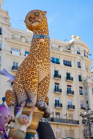 fallas: Fallas in Valencia fest figures that will burn on March 19 traditional popular celebration
