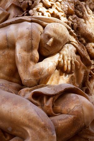 ignacio: Marques de dos Aguas Palace with alabaster sculptures facade in Valencia Spain Editorial