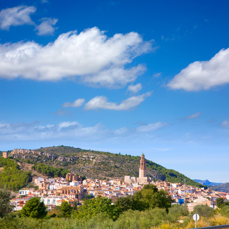 valencian: Jerica Castellon village skyline in Alto Palancia of Spain Valencian Community