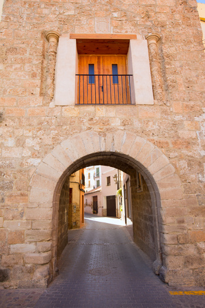 valencian: Jerica Castellon village arches in Alto Palancia of Spain Valencian Community