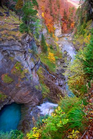 Arazas river waterfall in Ordesa valley Pyrenees Huesca Aragon Spain photo