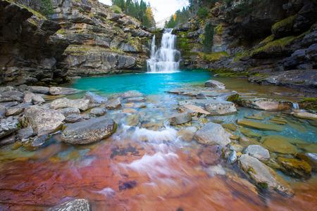 cascade range: Gradas de Soaso in Arazas river Ordesa valley Pyrenees Huesca Aragon Spain