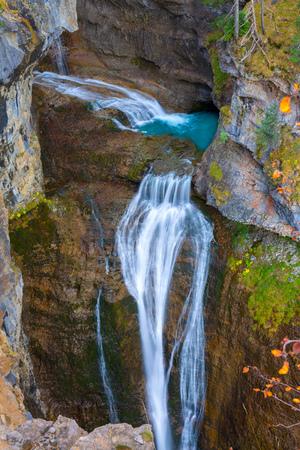 Cascada del Estrecho waterfall in Ordesa valley Pyrenees Huesca Spain Arazas river photo