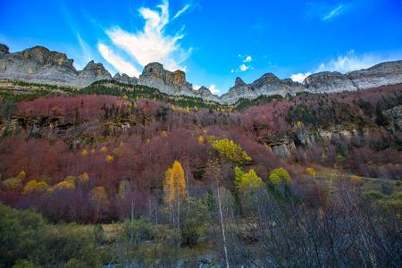 ordesa: Faja de Pelay in Ordesa valley Pyrenees Huesca Aragon Spain Stock Photo