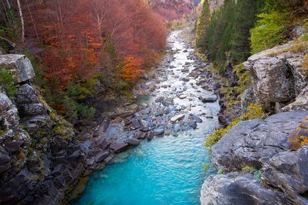 ordesa: Gradas de Soaso in Arazas river Ordesa valley Pyrenees Huesca Aragon Spain