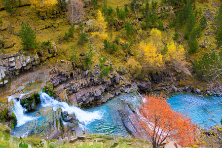 Gradas de Soaso in Arazas river Ordesa valley Pyrenees Huesca Aragon Spain photo