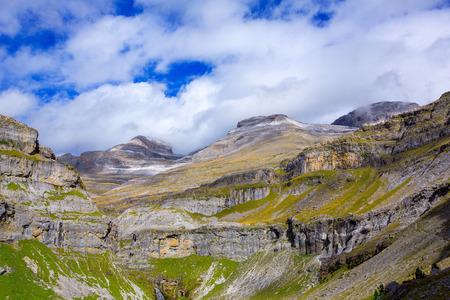 perdido: Monte Perdido Valle de Ordesa in Soaso circus Pyrenees Aragon Huesca at Spain Stock Photo
