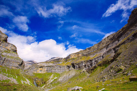 Monte Perdido Valle de Ordesa in Soaso circus Pyrenees Aragon Huesca at Spain photo