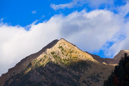 ordesa: Mondarruego from Bujaruelo Pyrenees in Valle de Ordesa valley Huesca Aragon at Spain