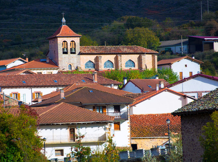 Oroz Betelu village in Navarra Pyrenees of Spain photo
