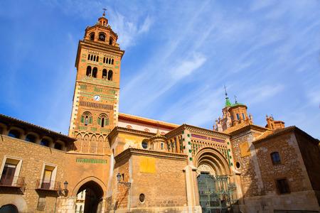 mudejar: Aragon Teruel Mudejar Cathedral Santa María Mediavilla  in Spain Stock Photo