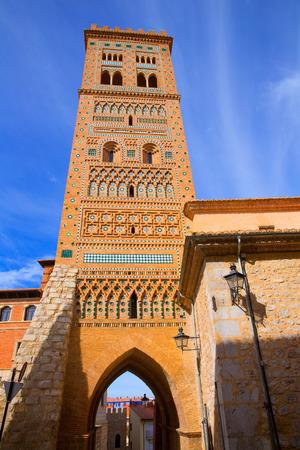 mudejar: Aragon Teruel Torre de San Martin Mudejar in Spain Stock Photo