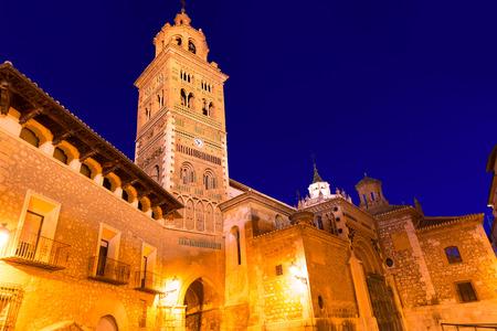 mudejar: Aragon Teruel Cathedral Mudejar Santa Maria Mediavilla heritage in Spain Stock Photo