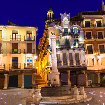carlos: Aragon Teruel plaza el torico in Carlos Castel square of Spain