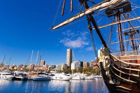 alicante: alicante port boats in Mediterranean Spain Valencian Community
