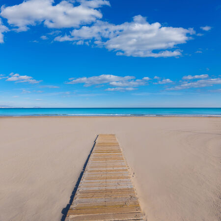 valencian: Alicante San Juan beach beautiful Mediterranean sea at Spain valencian Community Stock Photo