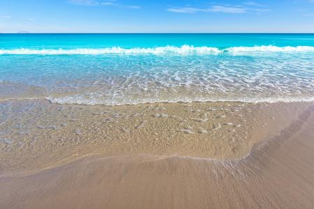 juan: Alicante San Juan beach beautiful Mediterranean sea at Spain valencian Community Stock Photo