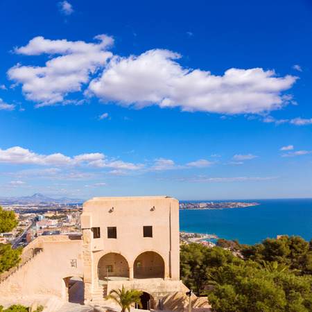 juan: Alicante San Juan beach view from Santa Barbara Castle in Spain Editorial