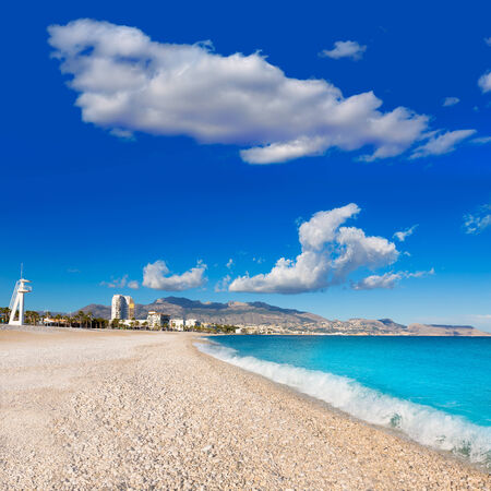 altea: Altea Playa del Albir of white stones in Alicante Mediterranean Spain