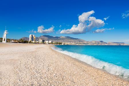 albir: Altea Playa del Albir of white stones in Alicante Mediterranean Spain
