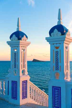 mediterraneo: Benidorm sunset Alicante Balcon Mediterraneo in Spain Valencian community