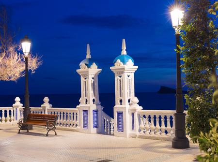 balcon: Benidorm sunset Alicante Balcon Mediterraneo in Spain Valencian community