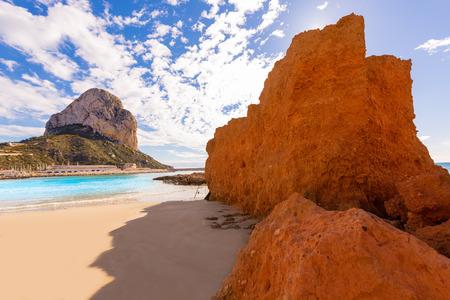 cantal: Calpe playa Cantal Roig beach near Penon de Ifach at Alicante spain Stock Photo