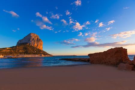 cantal: Calpe Alicante sunset at beach Cantal Roig in Mediterranean Spain