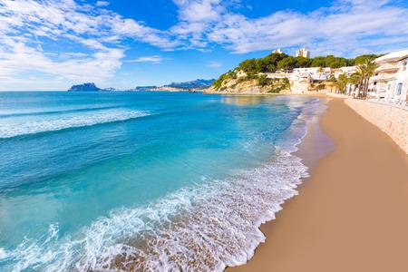 el: Moraira playa El Portet beach turquoise water in Teulada Alicante Spain